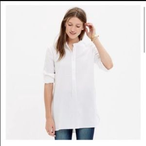 Madewell Cotton Tunic Popover Shirt XS NEW!